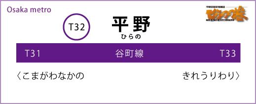 大阪メトロ 谷町線 平野駅