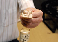象牙製の根付